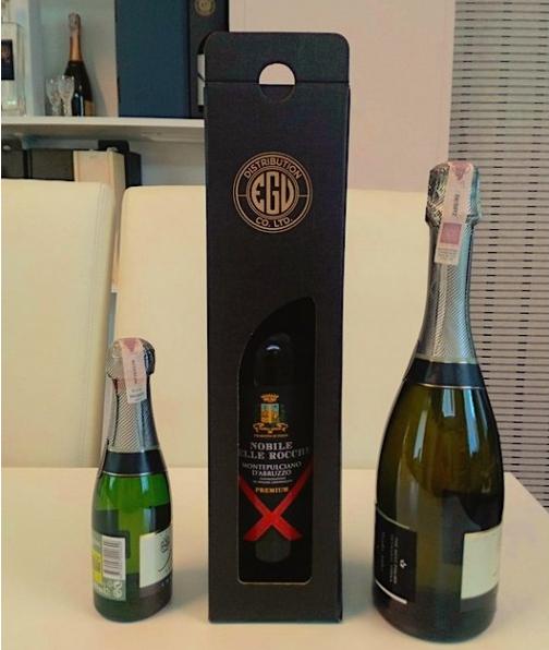małe butelki wina